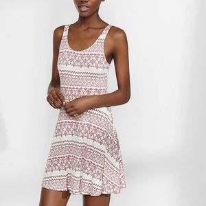 EXPRESS Aztec Print Skater Dress